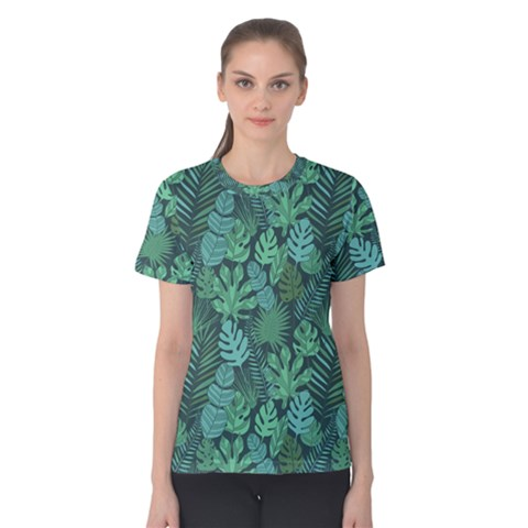 Tropical Plantation Pattern2 Women s Cotton Tee by kostolom3000shop