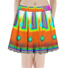 Crossroads Of Awakening, Abstract Rainbow Doorway  Pleated Mini Skirt by DianeClancy