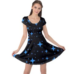 Bright Blue  Stars In Space Cap Sleeve Dresses by Costasonlineshop