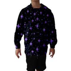 Bright Purple   Stars In Space Hooded Wind Breaker (kids) by Costasonlineshop