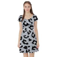 Skin5 Black Marble & Gray Marble Short Sleeve Skater Dress