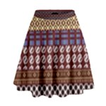 African Pattern Mix High Waist Skirt