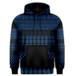 Dark Blue African Pattern Mix Men s Pullover Hoodie