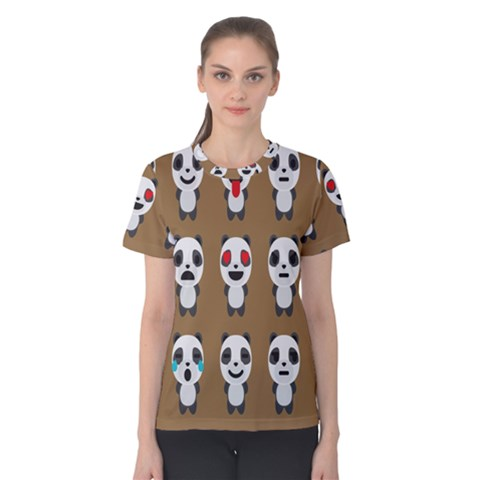 Panda Emoticon Women s Cotton Tee by AnjaniArt