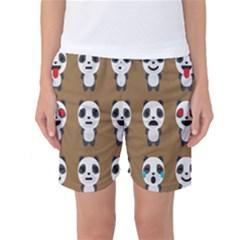 Panda Emoticon Women s Basketball Shorts by AnjaniArt