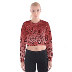 Red Water Women s Cropped Sweatshirt by AnjaniArt