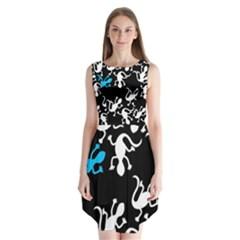 Blue Lizard Sleeveless Chiffon Dress   by Valentinaart