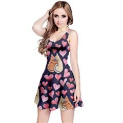 Crazy Cat Love Reversible Sleeveless Dress by BubbSnugg