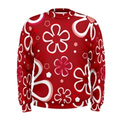 Flower Red Cute Men s Sweatshirt