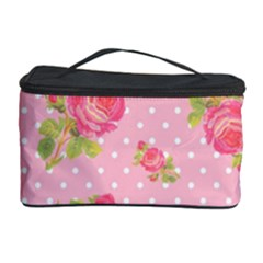 Rose Pink Cosmetic Storage Case by AnjaniArt