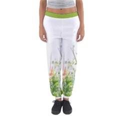 Carrot Flowers Women s Jogger Sweatpants by DeneWestUK