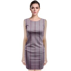 Purple Plank Classic Sleeveless Midi Dress by DeneWestUK