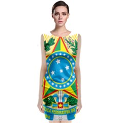 Coat Of Arms Of Brazil, 1971 1992 Classic Sleeveless Midi Dress by abbeyz71
