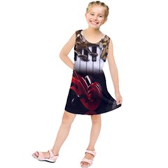Classical Music Instruments Kids  Tunic Dress by AnjaniArt