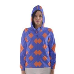 Orange Blue Hooded Wind Breaker (women)