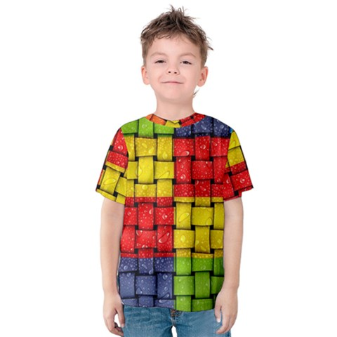 Pinterest Water Colorfull Kids  Cotton Tee by AnjaniArt
