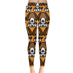 Sitbeagle Dog Orange Leggings
