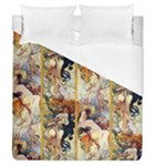 Alfons Mucha 1895 The Four Seasons Duvet Cover (Queen Size)