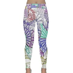 Zentangle Mix 1116a Classic Yoga Leggings by MoreColorsinLife