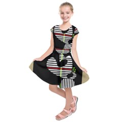 Abstract Art Kids  Short Sleeve Dress by Valentinaart