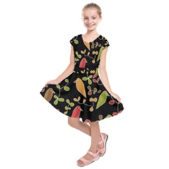 Flowers And Birds  Kids  Short Sleeve Dress by Valentinaart