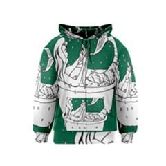 Green Mermaid Kids  Zipper Hoodie