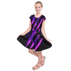 Purple Fish Kids  Short Sleeve Dress by Valentinaart