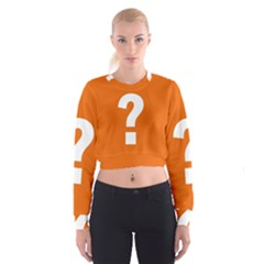 Question Mark Women s Cropped Sweatshirt by AnjaniArt