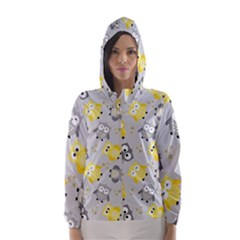 Owl Bird Yellow Animals Hooded Wind Breaker (women)
