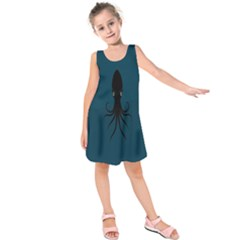 Black Octopus Kids  Sleeveless Dress