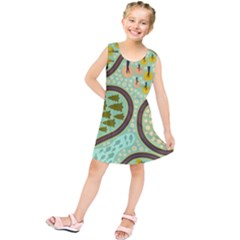 Hilly Roads Kids  Tunic Dress by AnjaniArt