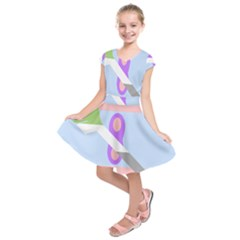 Noninsexual Aromantic Combo Flag Kids  Short Sleeve Dress by AnjaniArt