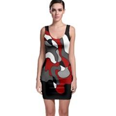 Creative Spot   Red Sleeveless Bodycon Dress by Valentinaart