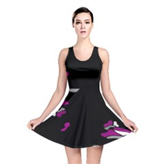 Magenta Creativity  Reversible Skater Dress by Valentinaart
