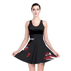 Red Creativity Reversible Skater Dress by Valentinaart