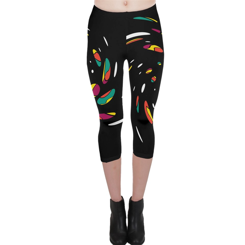 Colorful Twist Capri Leggings
