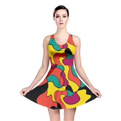 Colorful Spot Reversible Skater Dress by Valentinaart