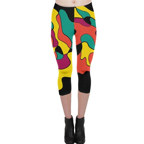 Colorful Spot Capri Leggings