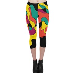 Colorful Spot Capri Leggings  by Valentinaart