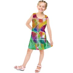 Abstract Sunrise Kids  Tunic Dress by Valentinaart
