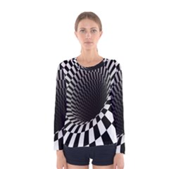 Optical Illusions Women s Long Sleeve Tee by AnjaniArt