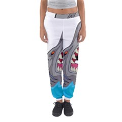 Panda Sharke Blue Sea Women s Jogger Sweatpants