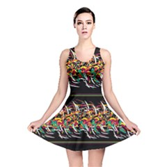 Colorful Barbwire  Reversible Skater Dress by Valentinaart
