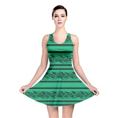 Green Barbwire Reversible Skater Dress by Valentinaart