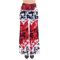 Red Hart   Graffiti Style Pants by Valentinaart