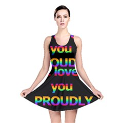 I Love You Proudly Reversible Skater Dress by Valentinaart