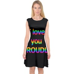 I Love You Proudly Capsleeve Midi Dress by Valentinaart