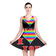 I Love You Reversible Skater Dress by Valentinaart