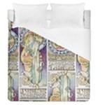 Alfons Mucha 1897 La Samaritaine Duvet Cover (Queen Size)