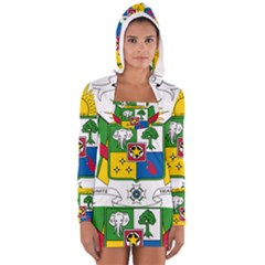 Coat Of Arms Of The Central African Republic Women s Long Sleeve Hooded T Shirt by abbeyz71